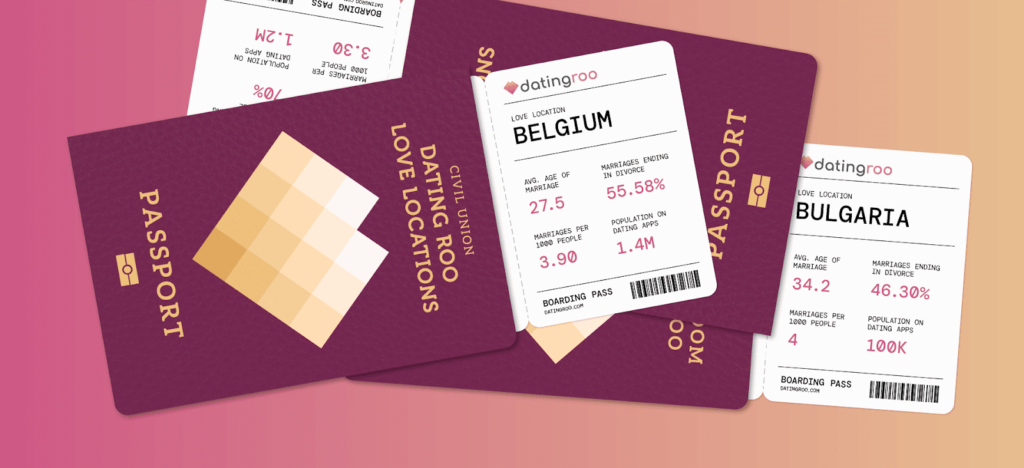 Love Locations Header of passports with love demographics