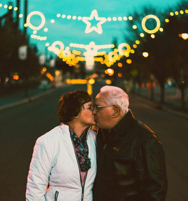 Senior couple out on a holidate