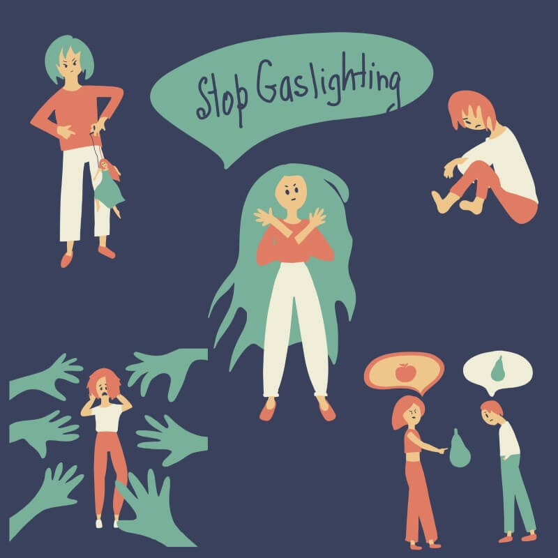 stop gaslighting illustrations