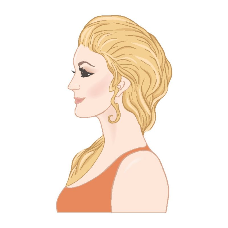 illustration of a mature blonde woman